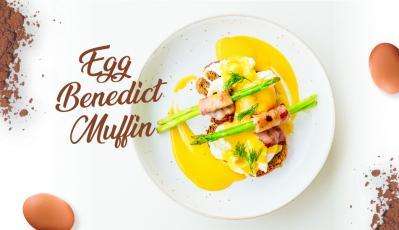 Fiesta Eggs Benedict Muffin dengan Saus Hollandaise